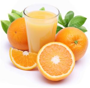 Orangensaft-Glas